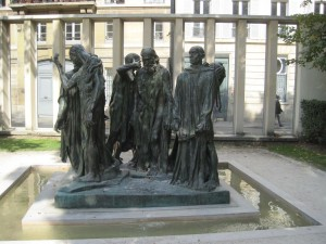 Rodin die Bürger von Callais klein